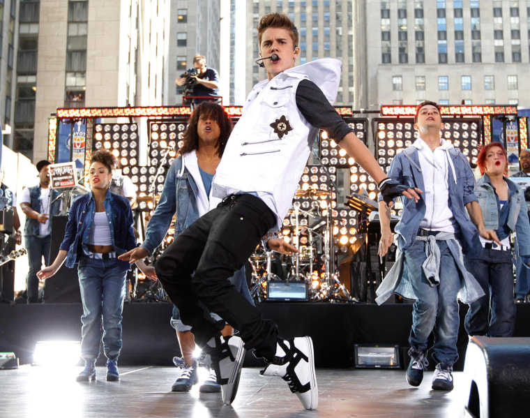 Image: Singer Bieber performs on NBC's 'Today' show in New York