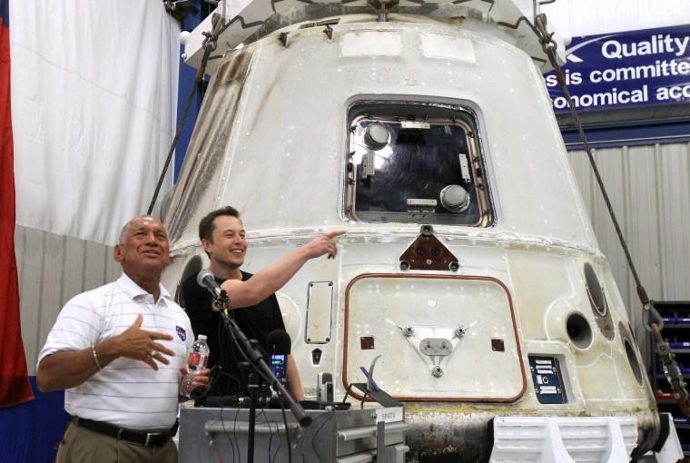 Image: Charles Bolden, Elon Musk