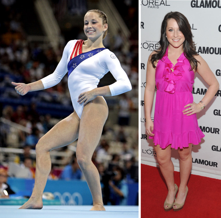 Carly Patterson of the United States competes in the floor exercise during the women's gymnastics team final at the 2004 Summer Olympic Games in Athens, Tuesday, Aug. 17, 2004.  Carly Patterson attends the 21st annual Glamour Women of the Year Awards at Carnegie Hall on November 7, 2011 in New York City.
