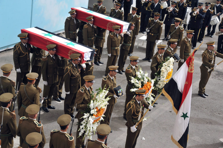 Image: Funeral of Syrian policemen