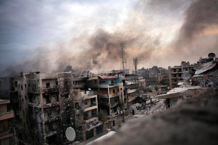 Image: Fighting in Aleppo