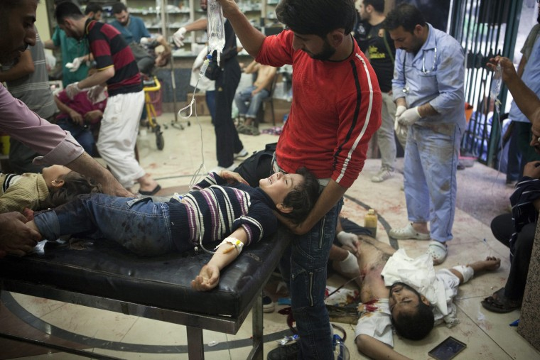 Image: Unrest in Aleppo