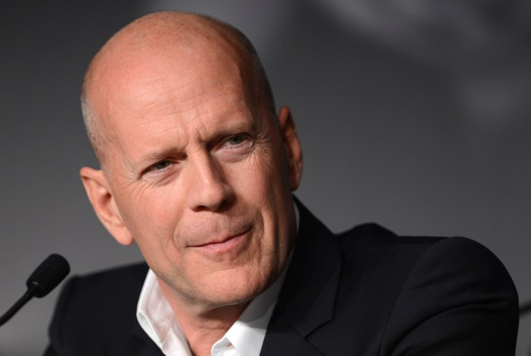 US actor Bruce Willis attends the press