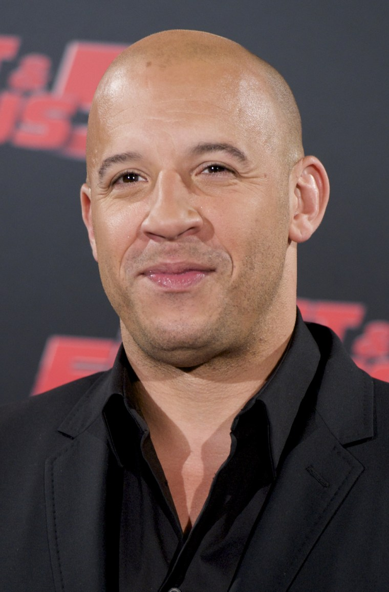Vin Diesel And Elsa Pataky Attend 'Fast & Furious 5' Photocall In Madrid