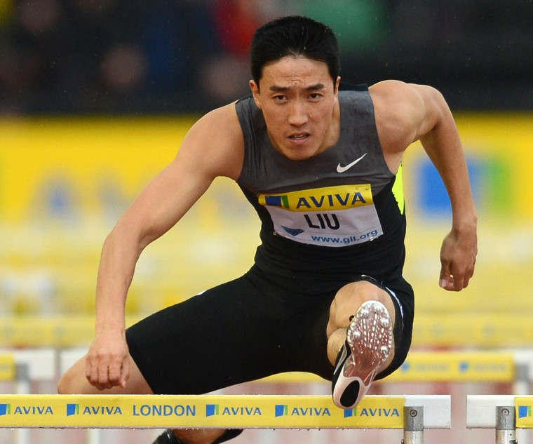 Image: China's Liu Xiang competes in the men's