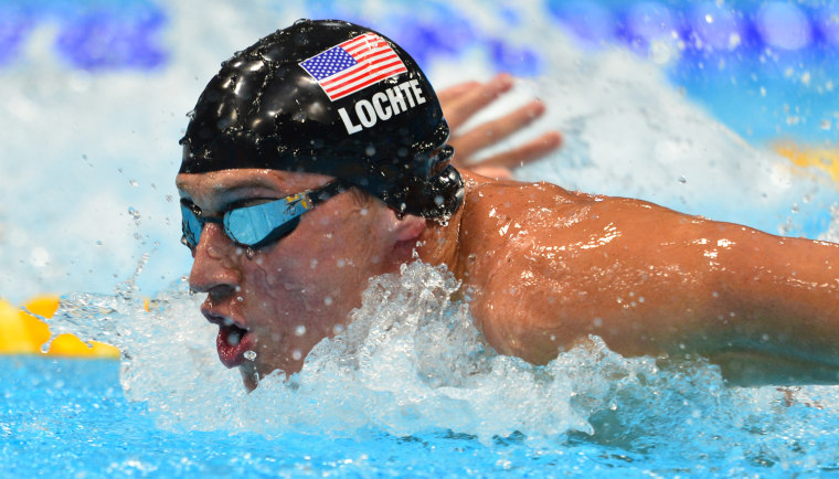 Image: US swimmer Ryan Lochte competes in the m