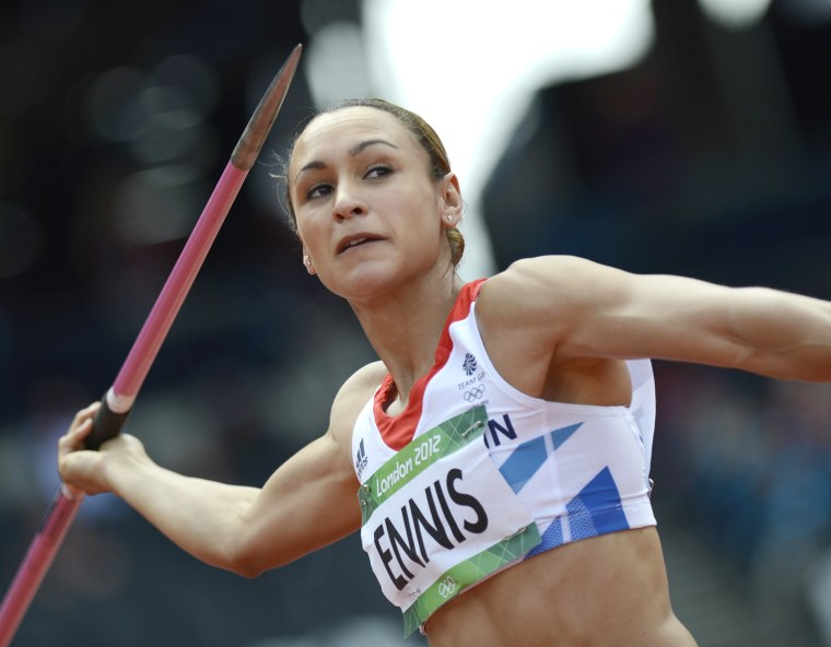 Image: Britain's Jessica Ennis competes in the
