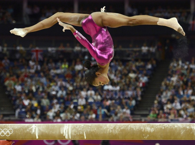 Image: Gabrielle Douglas of the U.S. competes in the balance beam during the women's individual all-around gymnastics final in London