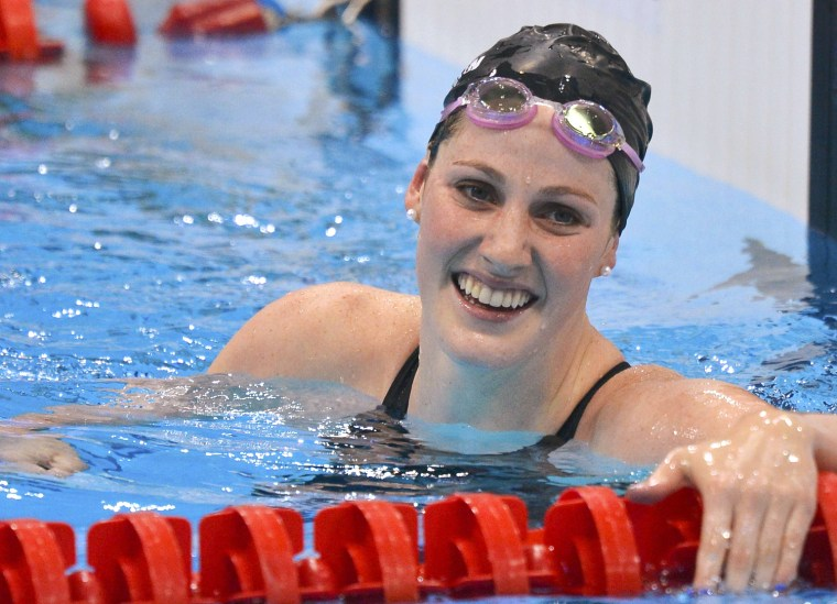Image: Missy Franklin of the U.S. reacts after winning the women's 100m backstroke final at the London 2012 Olympic Games