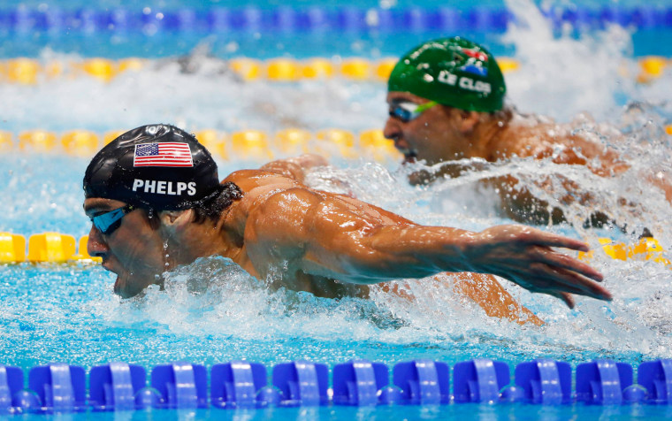 Image: File photo of Michael Phelps of the U.S. during the London 2012 Olympic Games