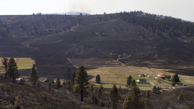 Image: Taylor Bridge Fire Continues To Burn In Washington State