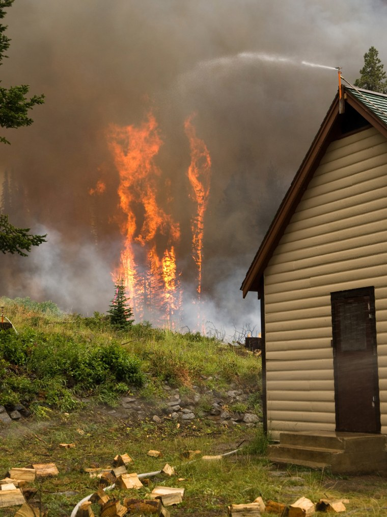 Image: US Forest Service handout photo of the Trinity Ridge Fire in Boise National Forest