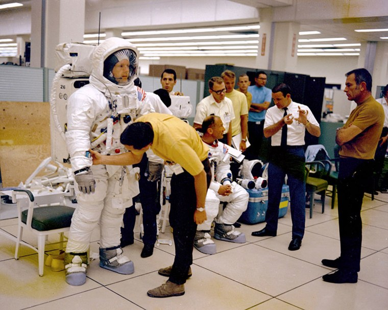 Image: File photo of Armstrong and Aldrin during training