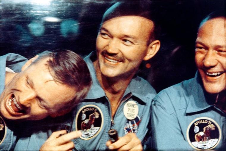 Image: Handout photo of the Apollo 11 crew