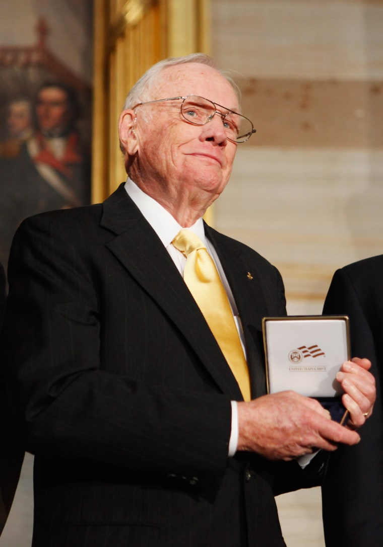 Image: Astronauts Aldrin, Glenn, Armstrong, And Collins Awarded Congressional Gold Medal