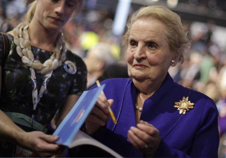 Image: Madeleine Albright