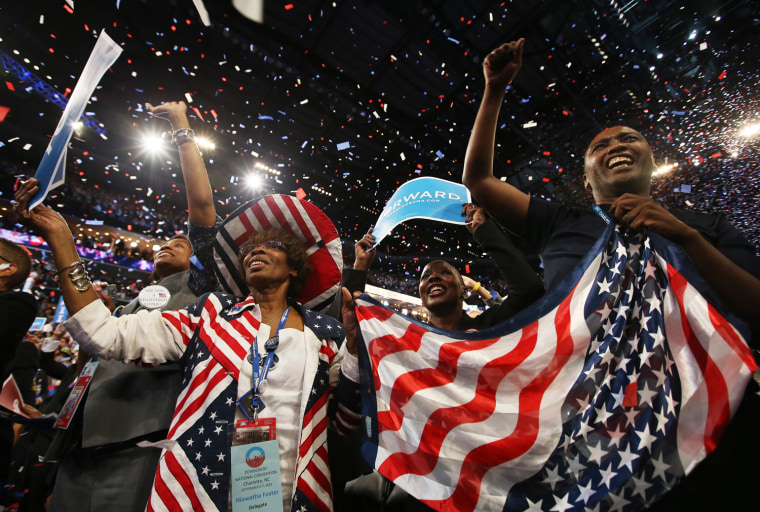 Image: Obama Accepts Nomination On Final Day Of Democratic National Convention