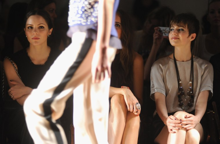 Image: Rebecca Taylor - Front Row - Spring 2013 Mercedes-Benz Fashion Week