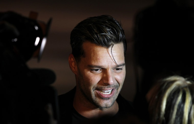 Image: Ricky Martin attends a presentation of Marc Jacobs Spring/Summer 2013 collection during New York Fashion Week