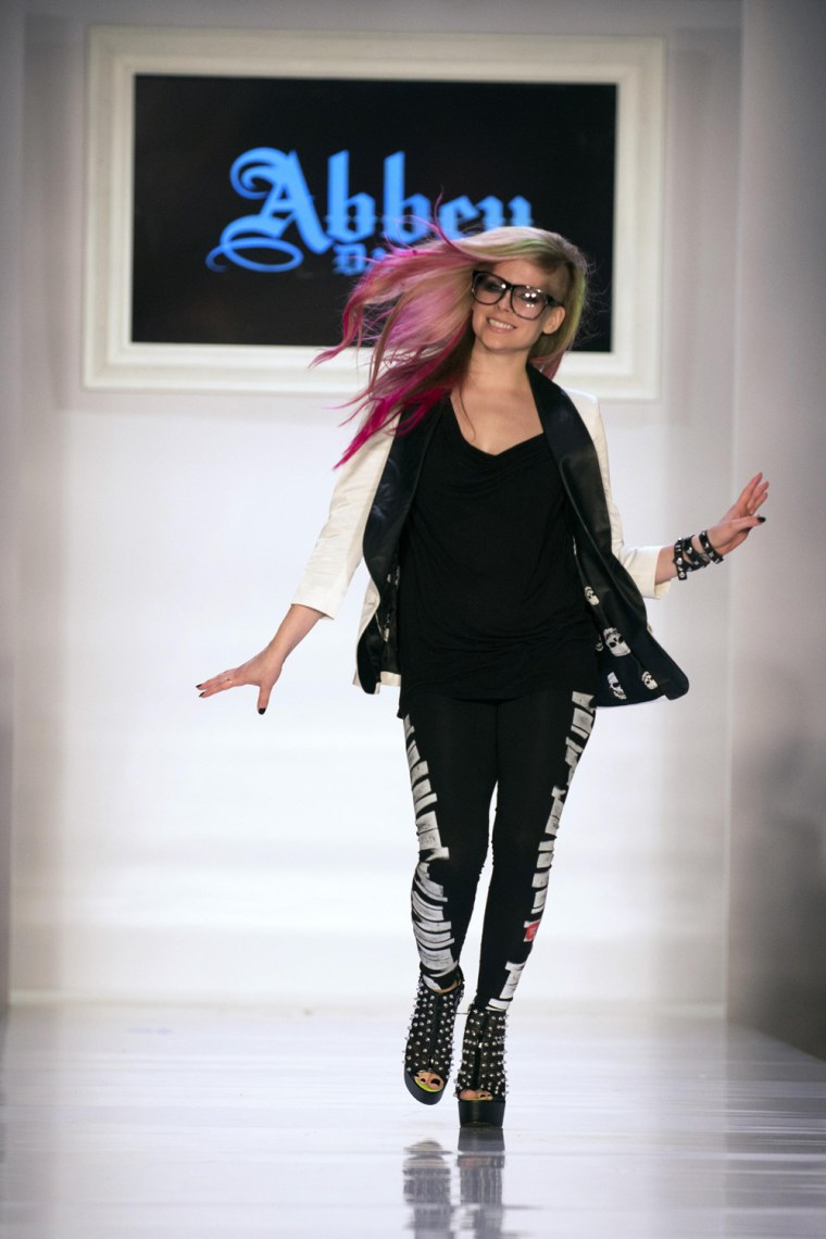 Image: Avril Lavigne walks the runway after her Abbey Dawn Spring/Summer 2013 collection during New York Fashion Week