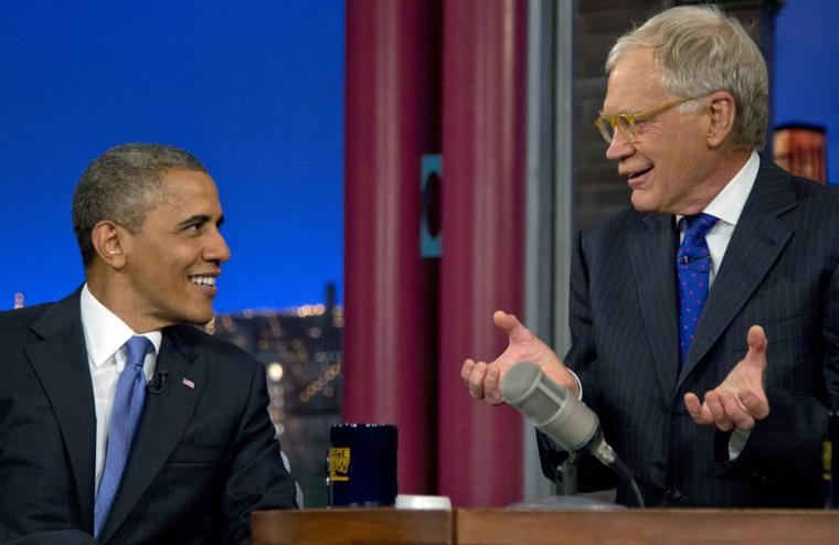 Image: President Obama on David Letterman