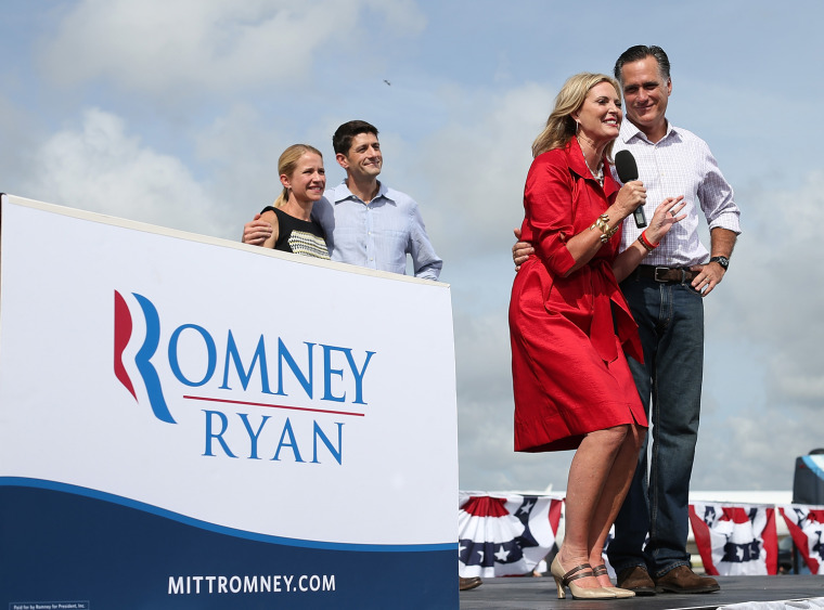 Image: Romney And Ryan Attend RNC Farewell Victory Rally In Florida