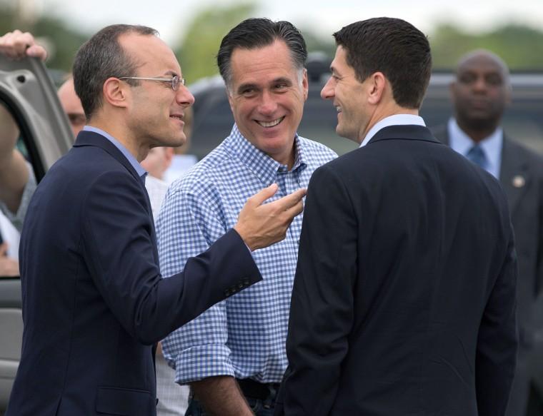 Image: Mitt Romney, Paul Ryan, Dan Senor