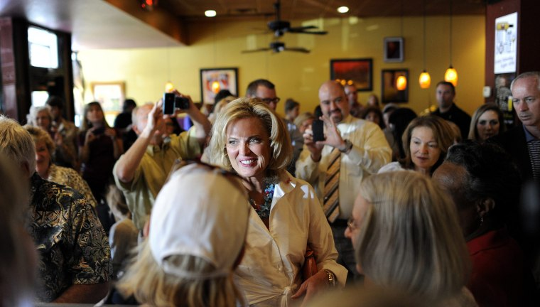 Image: Ann Romney meets with supporters during campaign stop for Mitt Romney at Fresco's Bakery & Bistro in Lakeland