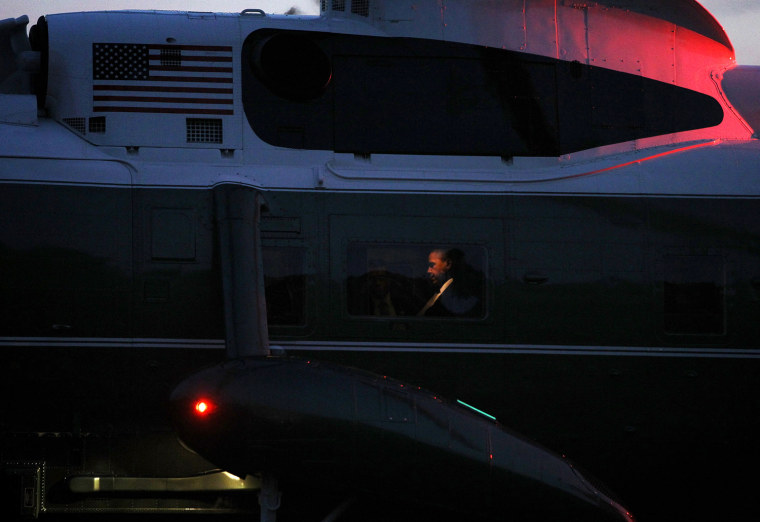 Image: BESTPIX -  President Obama Arrives Back At White House After Final Debate, And Campaign Stops