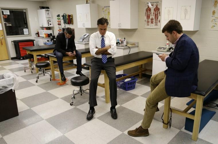 Image: Mitt Romney, Garrett Jackson, Kevin Madden