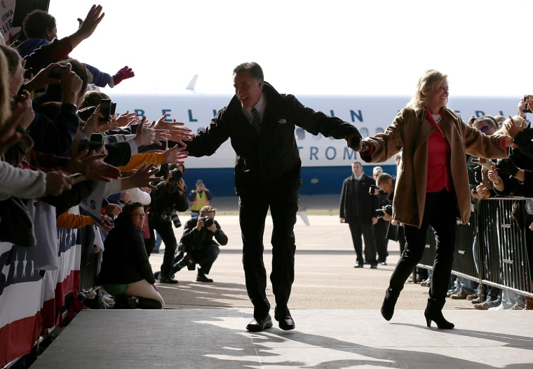 Image: BESTPIX  Mitt Romney Campaigns Across The Country Four Days Before The Election