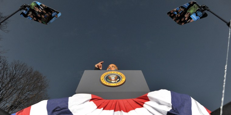 Image: TOPSHOTS-US-VOTE-2012-DEMOCRATIC CAMPAIGN-OBAMA