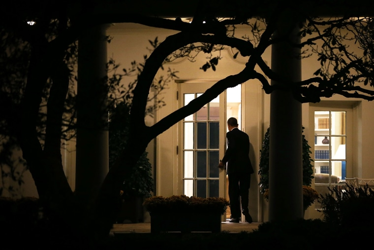 Image: ***BESTPIX*** President Obama Returns To White House