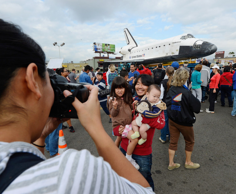 Image: Space Shuttle Endeavour Makes 2-Day Trip Through LA Streets To Its Final Destination