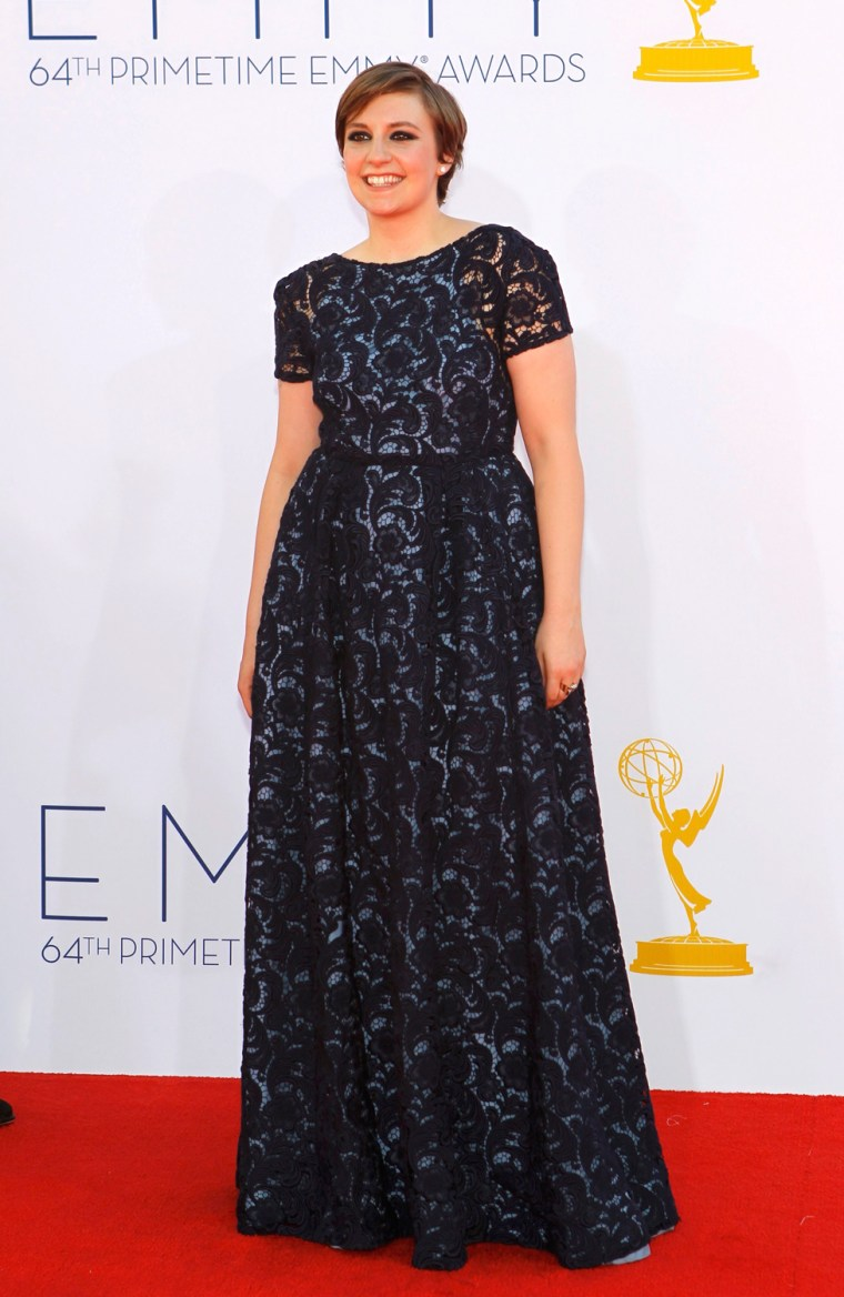 Image: Actress Lena Dunham arrives at the 64th Primetime Emmy Awards in Los Angeles