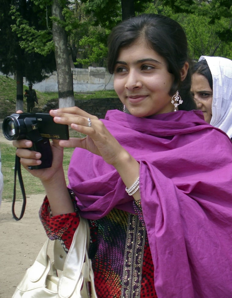 Image: Undated file photo of Malala Yousufzai, a 14-year-old schoolgirl, who was wounded in a gun attack in Swat Valley northwest Pakistan