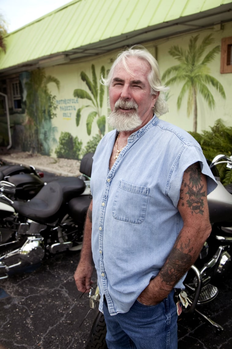 Lantana, Florida, USA, run-up to the 2012 U.S. presidential election. Tom Ward, ex United States Marine Corp. Served in Vietnam 1970-72. WeÕre fucked with the guy weÕve got now and weÕll be fucked if we get the new guyÉ.. but if you want jobs, not welfare