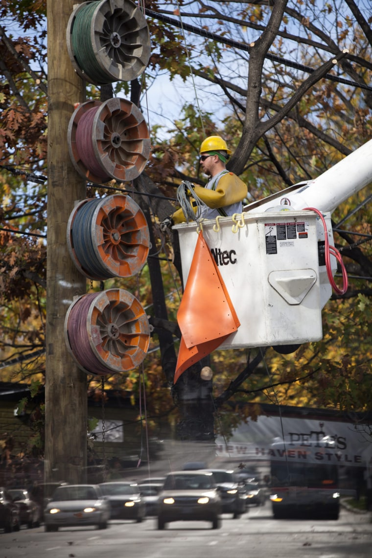 Image: Pepco Calls In Addtional Workers to DC Area to Deal with Hurricane Sandy