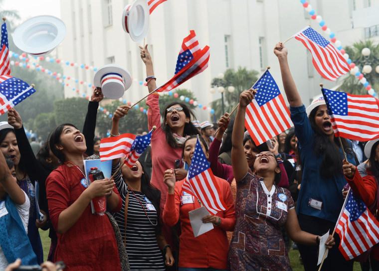 Image: INDIA-US-ELECTIONS-CELEBRATIONS