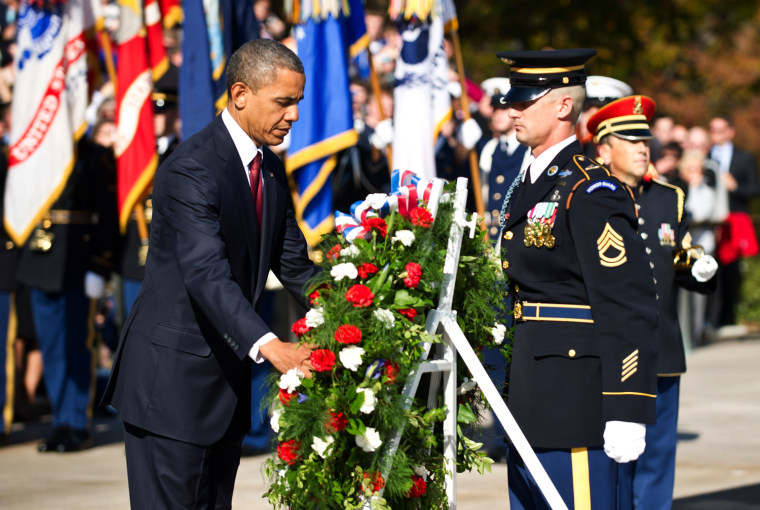 Image: Barack Obama at Arlington National Cemetery