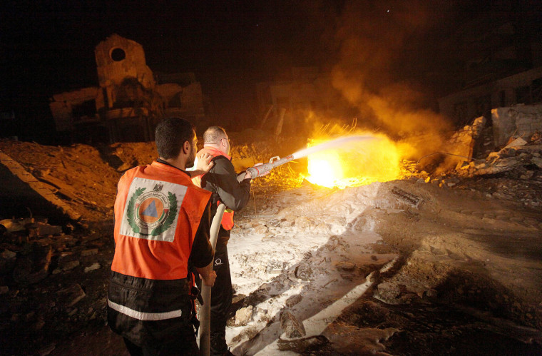 Image: Destroyed Hamas site after an Israeli air strike