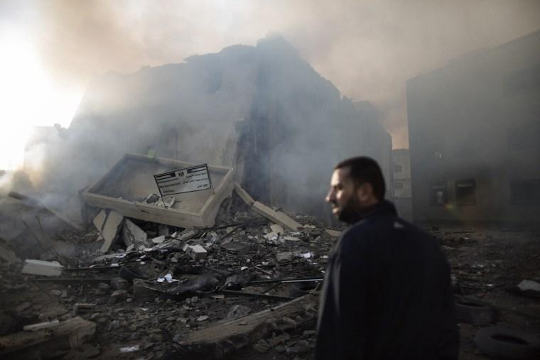 Image: TOPSHOTS-PALESTINIAN-ISRAEL-CONFLICT-GAZA