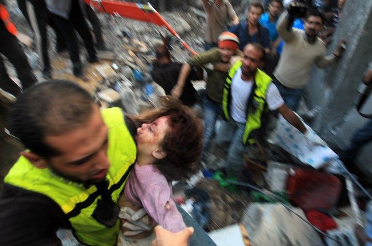 Image: TOPSHOTS-PALESTINIAN-ISRAELI-GAZA-CONFLICT