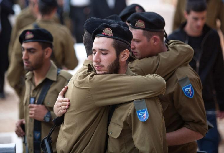Image: Funeral in Jerusalem of Israeli soldier Yosef Nachman Partok