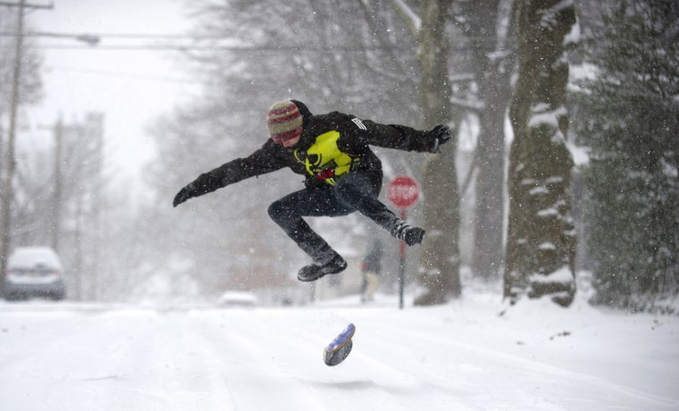 Image: Major Weather System Drops Large Amount Snow On Midwest And Northeast
