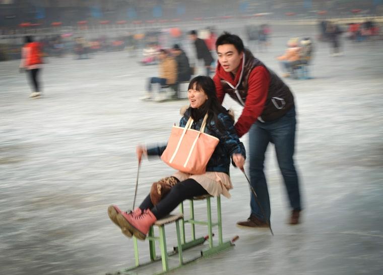 Image: CHINA-LIFESTYLE-TOURISM-WINTER