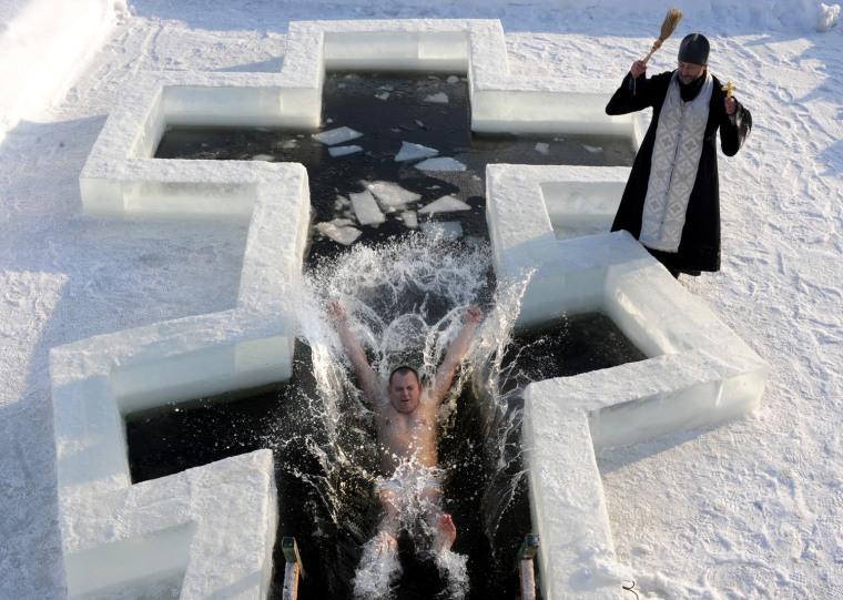 Image: BELARUS-RELIGION-BAPTISM