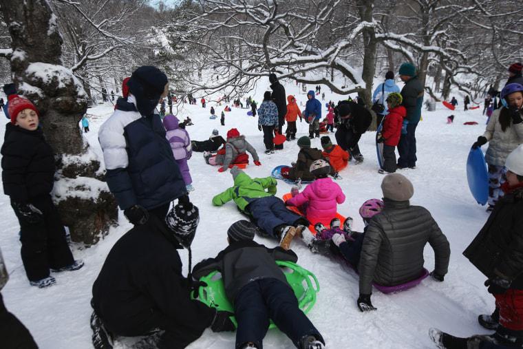 Image: Major Snowstorm Bears Down On New York City