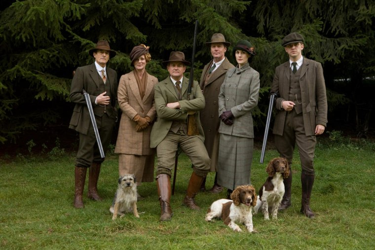 Downton Abbey Season 2 on MASTERPIECE Classic Part 7 - Sunday, February 19, 2012 at 9pm ET on PBS                      Shown from L-R: Nigel Havers as Lord Hepworth, Samantha Bond as Lady Rosamund, Hugh Boneville as Lord Grantham, Iain Glen as Sir Richard Carlisle, Michelle Dockery as Lady Mary and Dan Stevens as Matthew Crawley (C) Carnival Film & Television Limited 2011 for MASTERPIECE This image may be used only in the direct promotion of MASTERPIECE CLASSIC. No other rights are granted. All rights are reserved. Editorial use only.