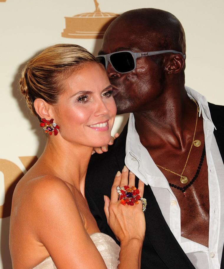 Model Heidi Klum and husband singer Seal